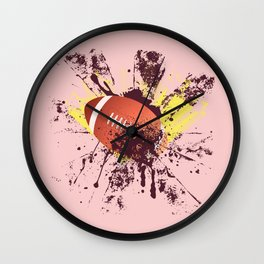 Grunge Rugby ball Wall Clock