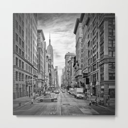 NEW YORK CITY 5th Avenue | Monochrome Metal Print
