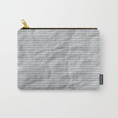 Crumpled Lined Paper Carry-All Pouch