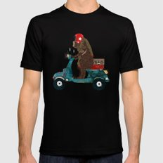 scooter bear Mens Fitted Tee X-LARGE Black