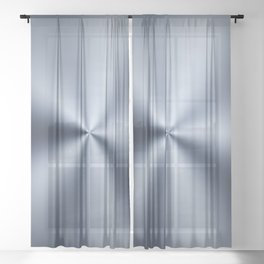 Radial Brushed Metal Texture - Industrial Graphic Design Sheer Curtain
