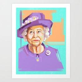 Queen Elizabeth II Kunstdrucke