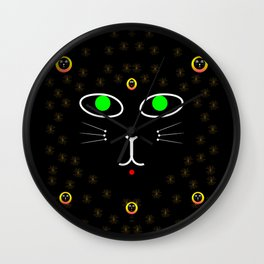 Dark Night with dark cats Wall Clock