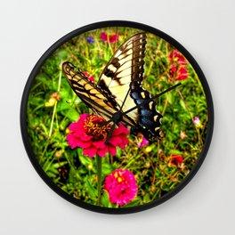 A Summer Butterfly Wall Clock