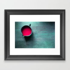 pink water Framed Art Print