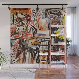 A vectorised Basquiat Wall Mural