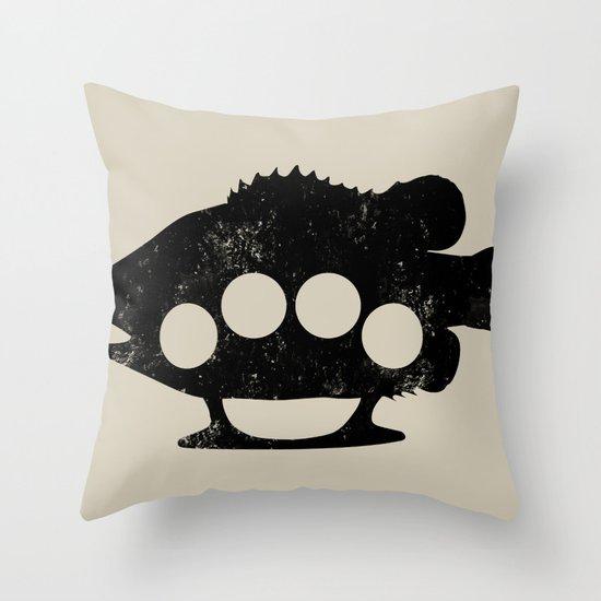 Bass Knuckles Throw Pillow
