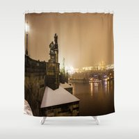 prague Shower Curtains featuring Prague 6 by Veronika