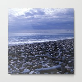 BLUE BEACH of SICILY Metal Print