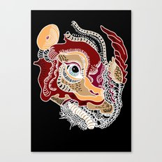 White Rhino Dinosaur Canvas Print