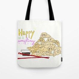 Happy as a Dumpling Tote Bag