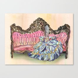 Rococo Woman  Canvas Print