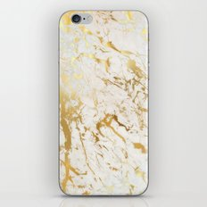 Gold marble iPhone & iPod Skin