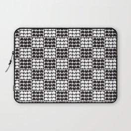Hob Nob Black White Quarters Laptop Sleeve