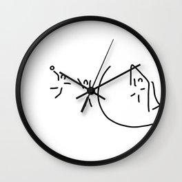 handball circle throw handball player Wall Clock