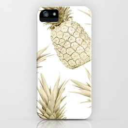 Gold Pineapple Party iPhone Case