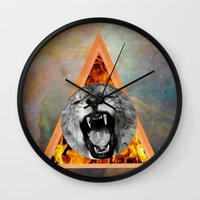 leon Wall Clocks featuring leon by blueart