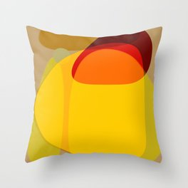 Orange, Yellow and Green Throw Pillow