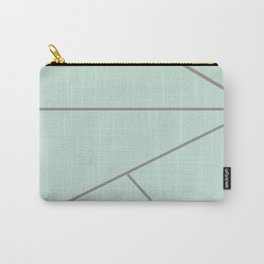 Green and Silver Lines Carry-All Pouch