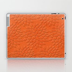 Leather Look Petal Pattern - Flame Color Laptop & iPad Skin