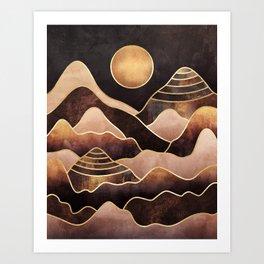 Sunkissed Mountains Art Print