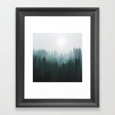 Autumn Fog | Green Edition Framed Art Print