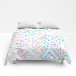 90s Inspired Print // GEOMETRIC PASTEL BRIGHT SHAPES PATTERN GRAPHIC DESIGN Comforters