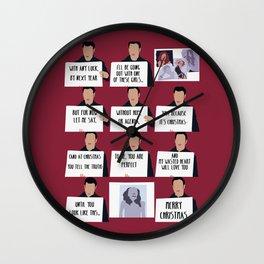love actually Wall Clock