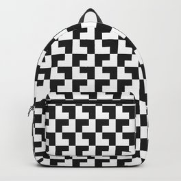 Black and White Tessellation Pattern - Graphic Design Backpack