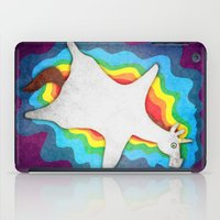 rug iPad Cases featuring Unicorn Rug by That's So Unicorny