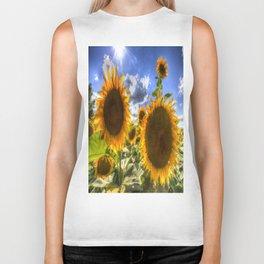 Sunflowers Of Summer Biker Tank