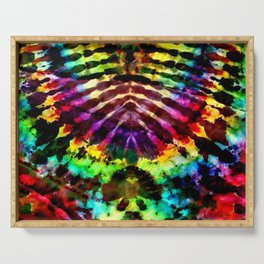 Rainbow Arch Tie Dye Serving Tray