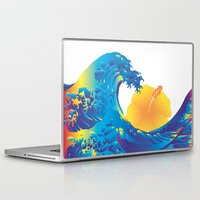 hokusai Laptop & iPad Skins featuring Hokusai Rainbow & Hibiscus_Y  by FACTORIE