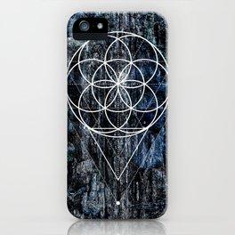 Flower geometry iPhone Case