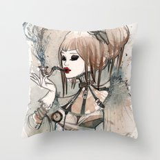 Steampunk Smoker Throw Pillow