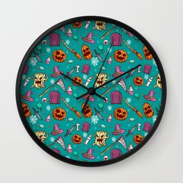 spooky cartoon halloween Wall Clock