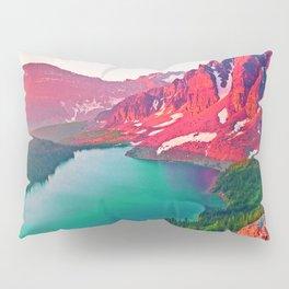 Red Dream Peaks Pillow Sham
