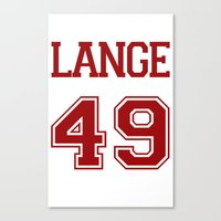 jessica lange Canvas Prints featuring Jessica Lange Varsity by NameGame