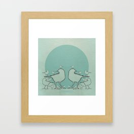 A Bird On The Head Framed Art Print