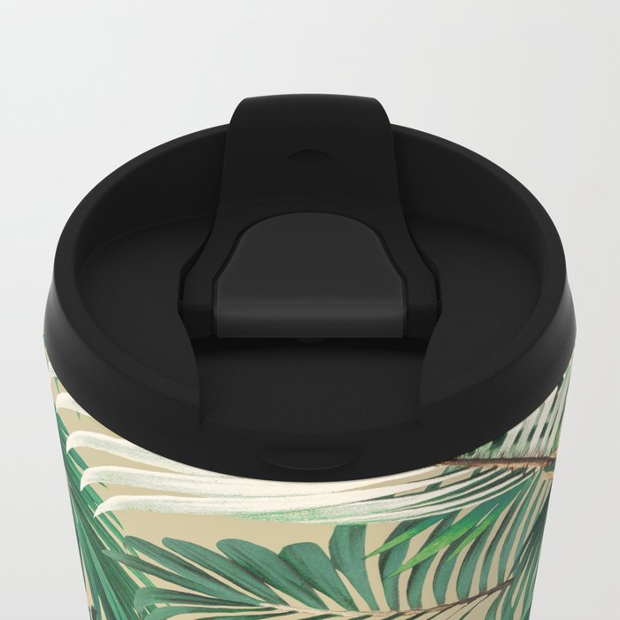 Tropical Jungle Metal Travel Mug