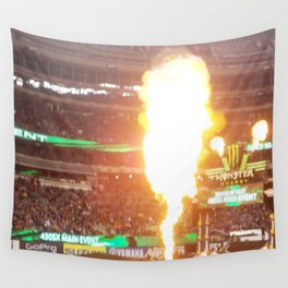 MX Supercross Explosive Fire Wall Tapestry