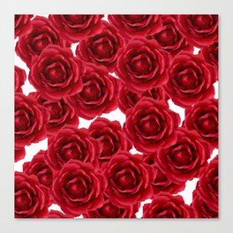 ROSES ROSES RED RED ROSES Canvas Print