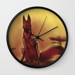 Burnt Wall Clock