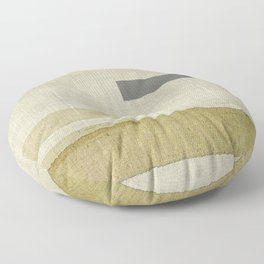 """Burlap Texture Natural Shades"" Floor Pillow"