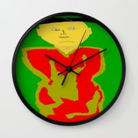 asia Wall Clocks featuring Asia by Happy Fish Gallery