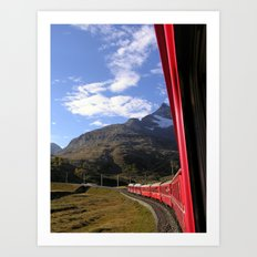 View from the Bernina Express Art Print