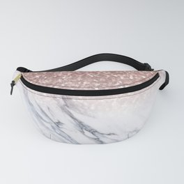 She Sparkles Rose Gold Marble Luxe Fanny Pack