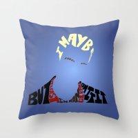 buffy the vampire slayer Throw Pillows featuring Spike - Buffy the vampire slayer by Rebecca McGoran