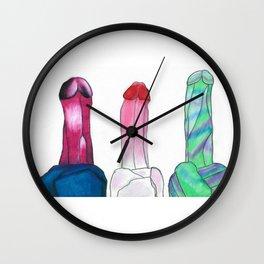 Crystals 2 Wall Clock