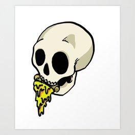 Pizza Skeleton Art Print